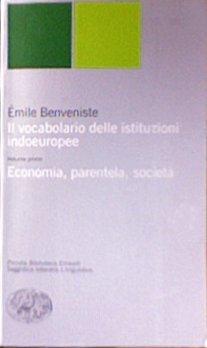 Il vocabolario delle istituzioni indoeuropee