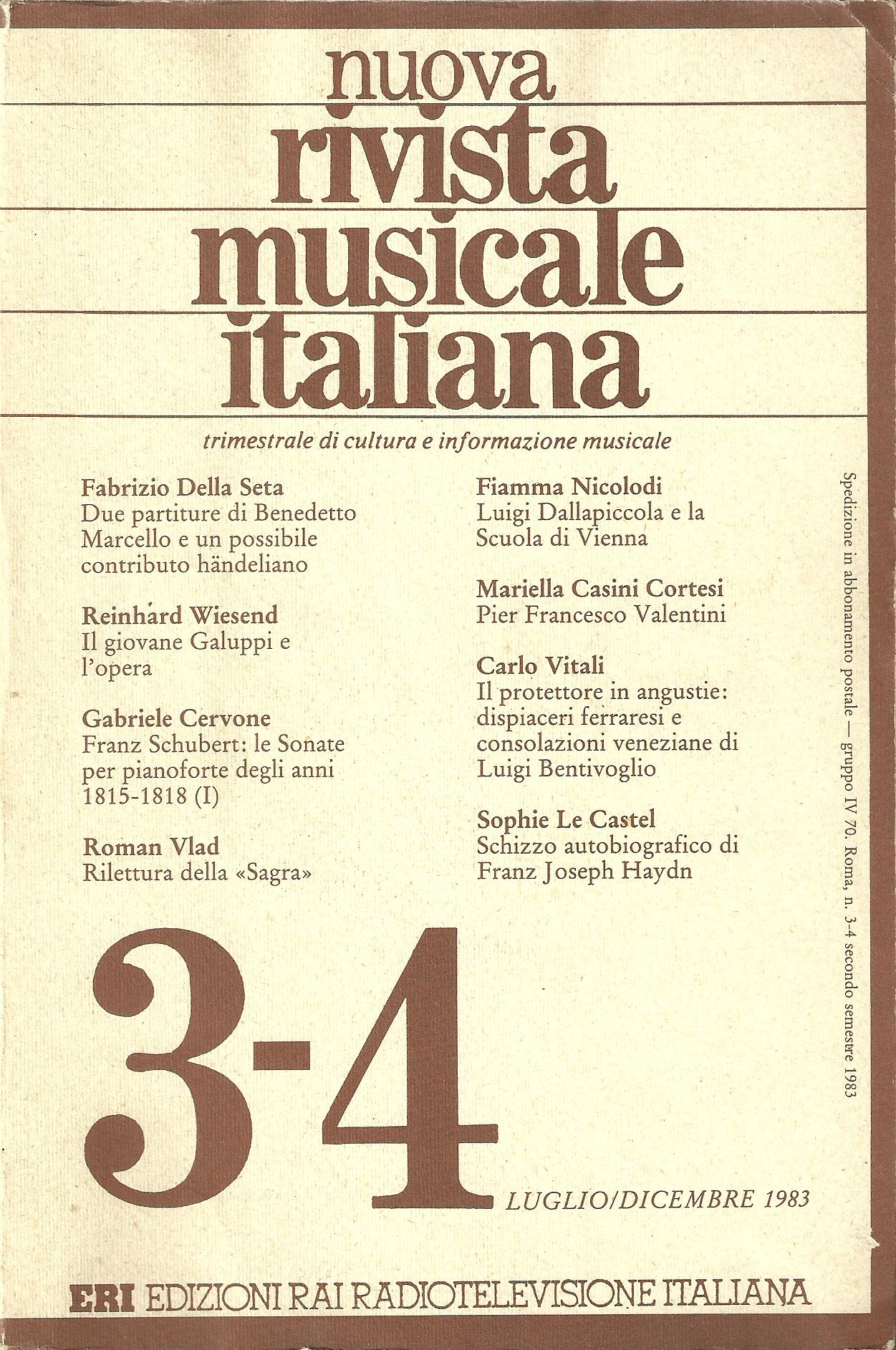 Nuova rivista musicale italiana, n.3-4 (1983)