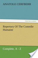 Repertory Of The Comedie Humaine, Complete, A — Z