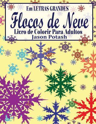Flocos De Neve Livro De Colorir Para Adultos