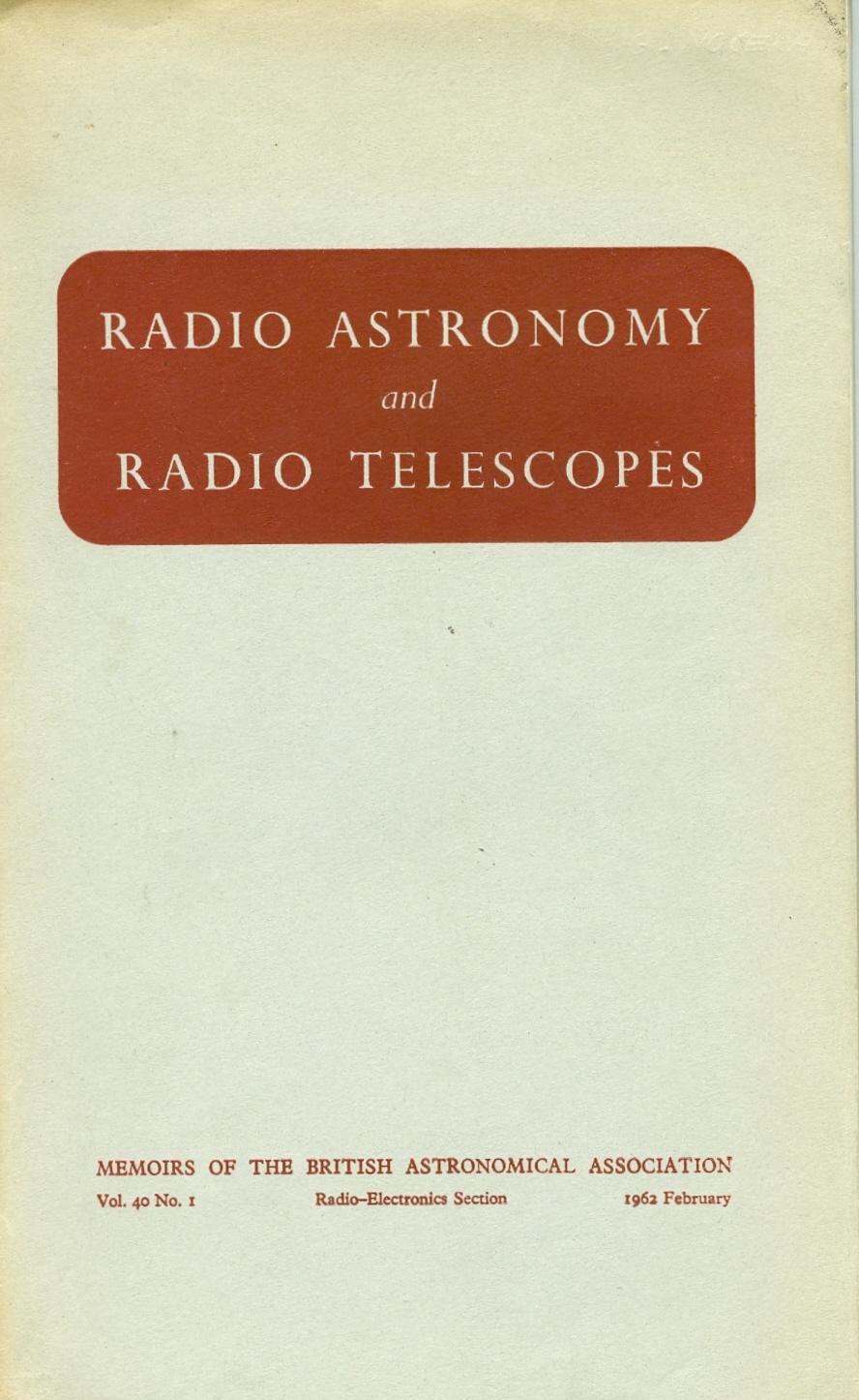 Radio Astronomy and Radio Telescopes