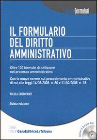Il formulario del diritto amministrativo