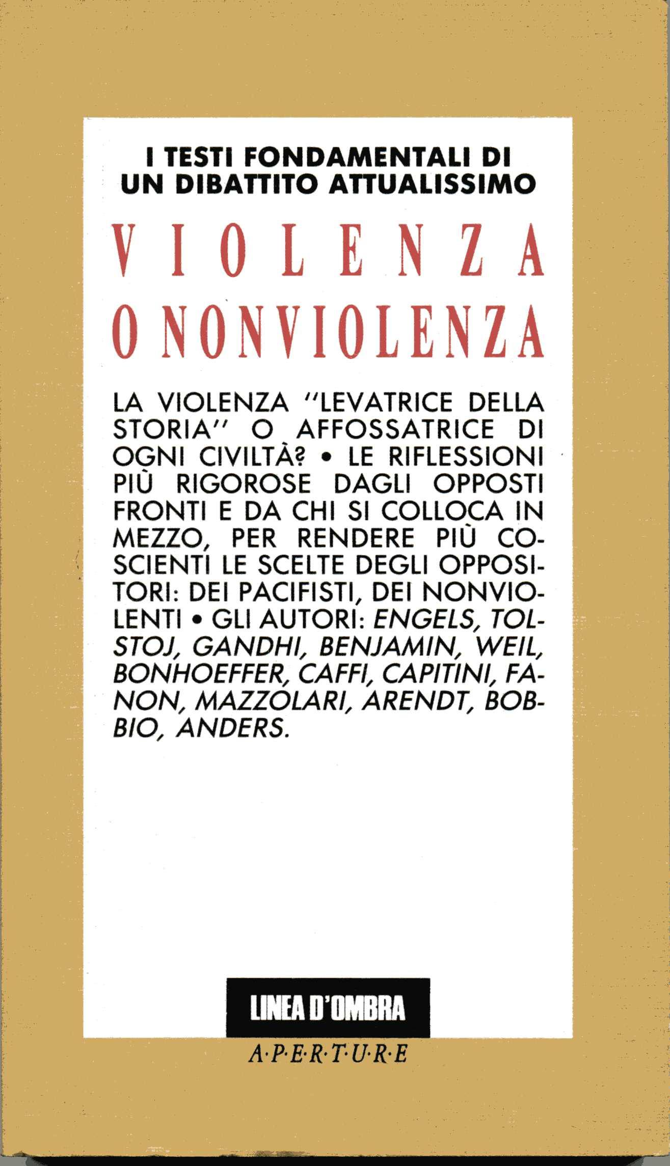 Violenza o non violenza