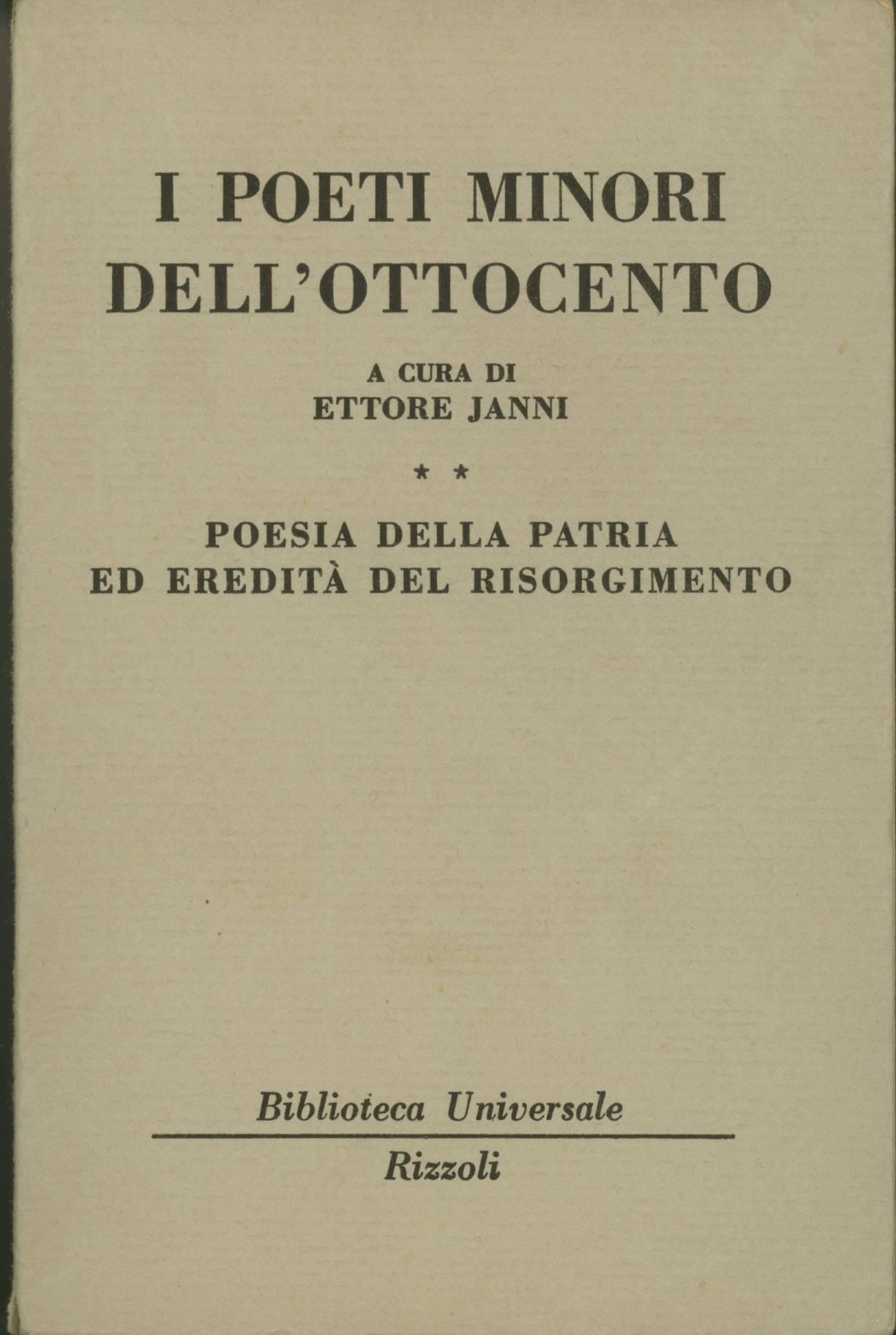 I poeti minori dell'Ottocento - vol. II