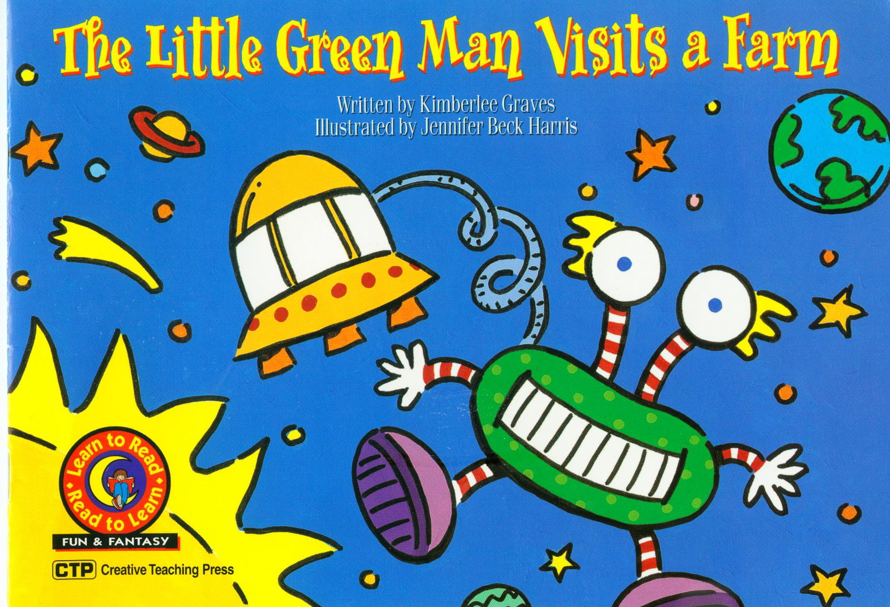 The Little Green Man Visits a Farm