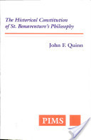 The Historical Constitution of St. Bonaventure's Philosophy