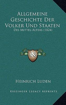 Allgemeine Geschichte Der Volker Und Staaten