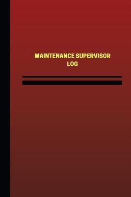 Maintenance Supervisor Red Cover, Medium Logbook