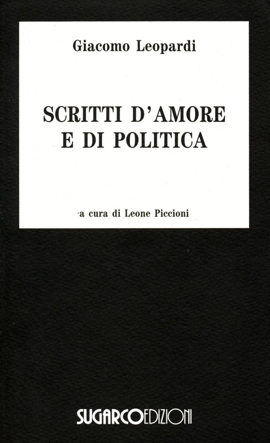 Scritti d'amore e di politica