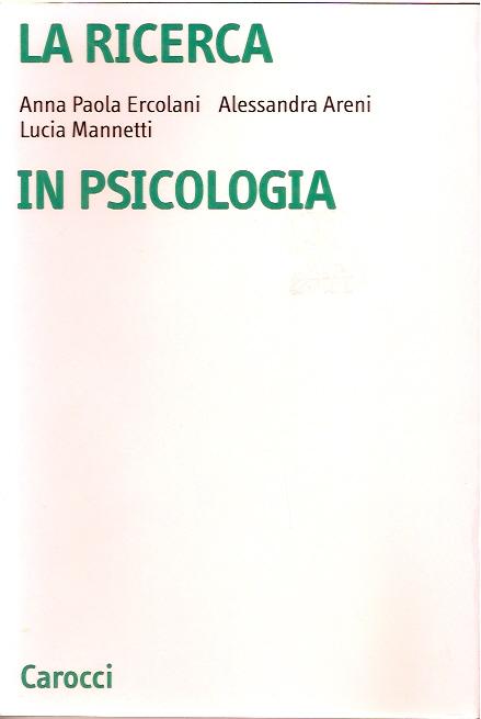 La ricerca in psicologia