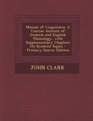 Manual of Linguistics