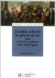 Société, cultures et genres de vie dans la France moderne