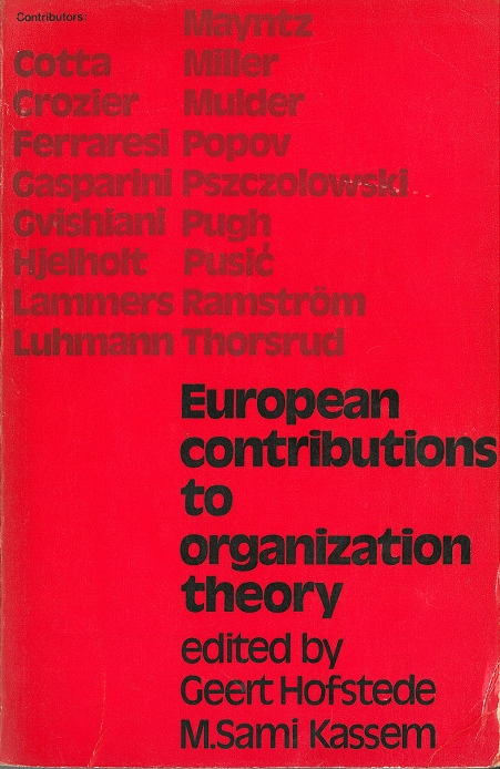 European Contributions to Organisation Theory