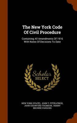 The New York Code of...