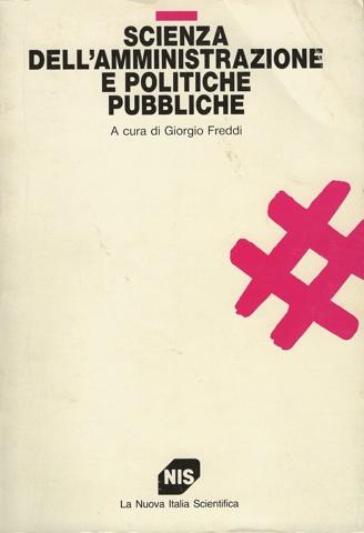 Scienza dell'amministrazione e politiche pubbliche