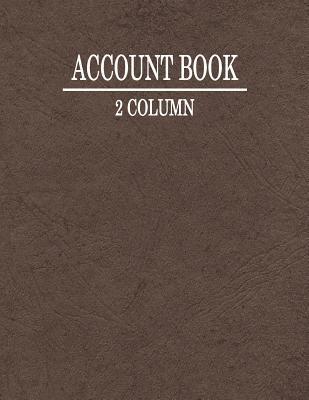 2 Column Account Book
