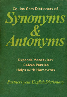 Dictionary of synonyms and antonyms