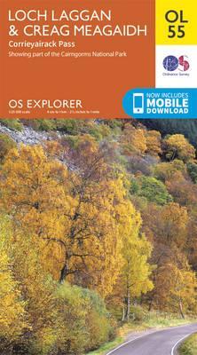OS Explorer OL55 Loch Laggan & Creag Meagaidh, Corrieyairack Pass