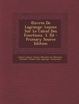 Uvres de Lagrange