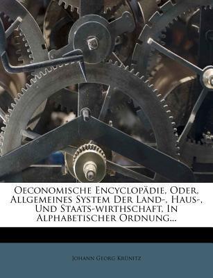 Oeconomische Encyclopädie, erster Theil