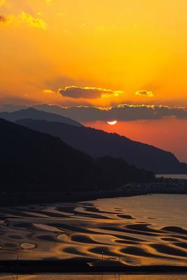 Sunset on the Japane...