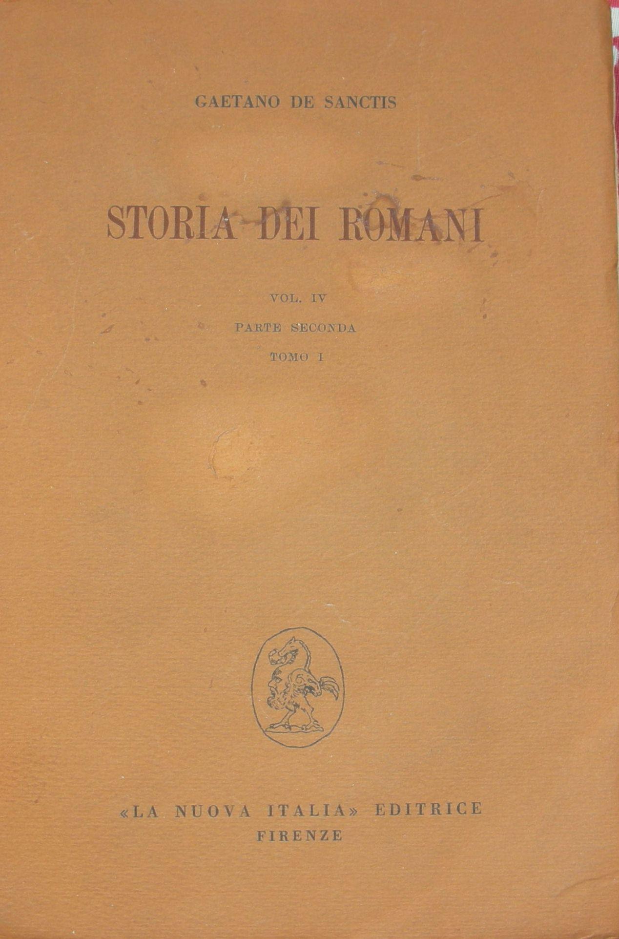 Storia dei Romani - Vol. IV - Parte II - Tomo 1