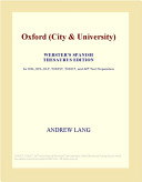 Oxford (City and University) (Webster's Spanish Thesaurus Edition)