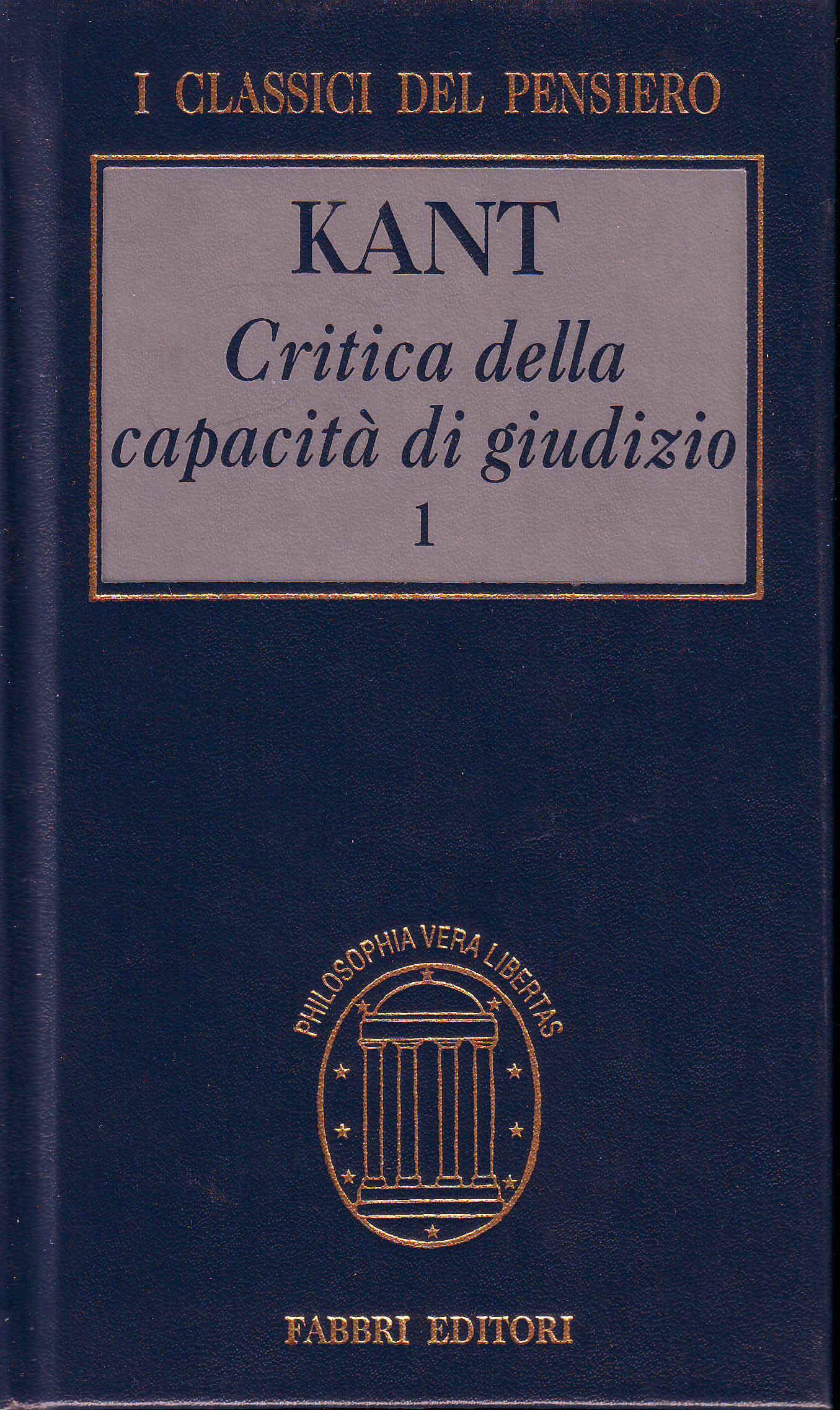 Critica della capacità di giudizio vol.1