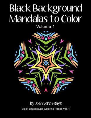 Black Background Mandalas to Color Volume 1