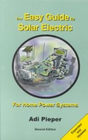 The Easy Guide to Solar Electric, second edition