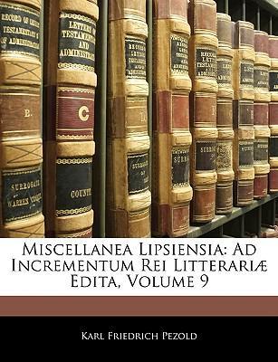 Miscellanea Lipsiensia