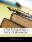 A Warning to Lovers,...