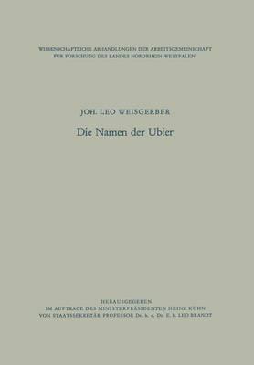 Die Namen Der Ubier