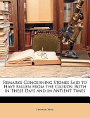 Remarks Concerning Stones Said to Have Fallen from the Clouds