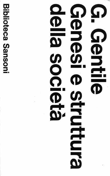 Genesi e struttura della società