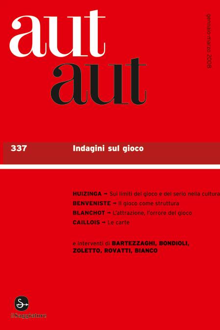 Aut Aut n. 337 / 2008