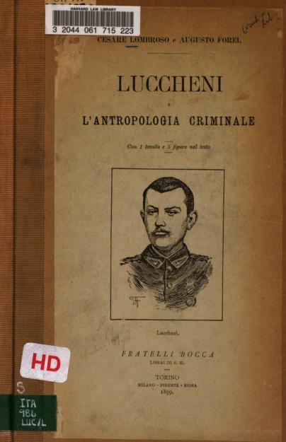 Luccheni e l'antropologia criminale