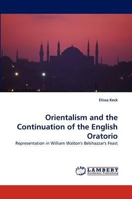 Orientalism and the Continuation of the English Oratorio