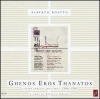 Ghenos Eros Thanatos e altri scritti sull'arte (1968-1985). Ediz. illustrata