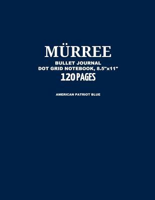 "Murree Bullet Journal, American Patriot Blue, Dot Grid Notebook, 8.5"" x 11"", 120 Pages"