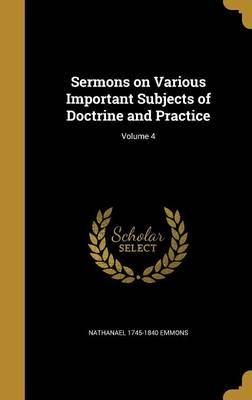 SERMONS ON VARIOUS IMPORTANT S