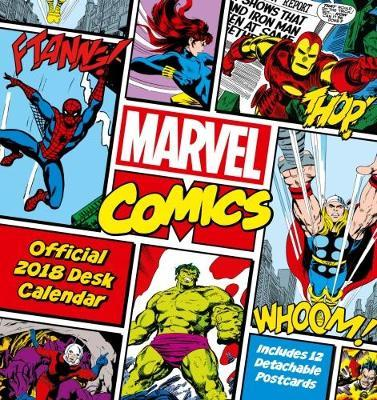 Marvel Comics Official Desk Easel 2018 Calendar - Month To View Desk Format