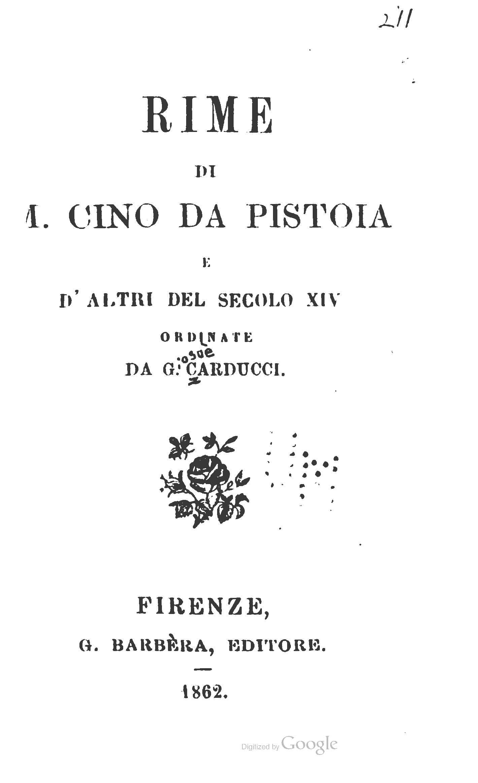 Rime - vol. 1