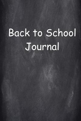 Back to School Journal Chalkboard Design