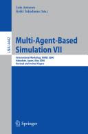 Multi-Agent-Based Simulation VII