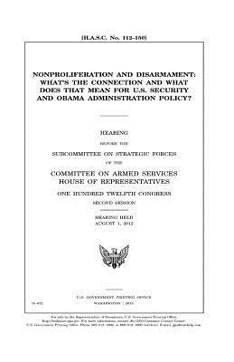 Nonproliferation and disarmament