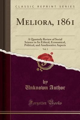 Meliora, 1861, Vol. 3