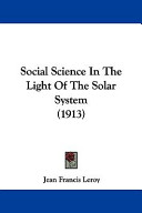 Social Science in the Light of the Solar System
