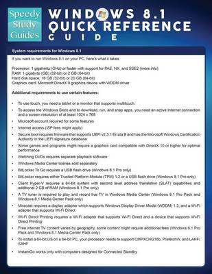 Windows 8.1 Quick Reference Guide (Speedy Study Guide)