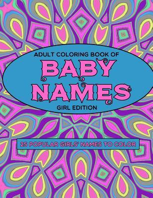 Adult Coloring Book of Baby Names